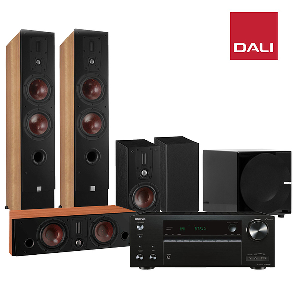 ONKYO TX-NR686 7.2聲道擴大機+DALI IKON6 MK2 環繞喇叭組(主聲道)+FIN sOne8吋鋼烤重低音