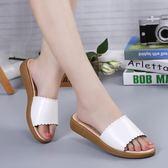 夏季鞋平底鞋子 時尚涼拖軟底防滑一字型沙灘鞋《小師妹》sm1698