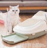 貓砂盆防外濺半封閉雙層貓廁所大鬆木貓沙盆屎盆除臭貓咪用品全套ATF 格蘭小舖