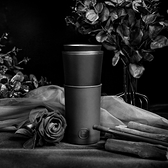 HYDY 午夜黑-黑杯 兩用隨行保溫杯 450ml