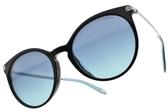 Tiffany&CO.太陽眼鏡 TF4142BF 8001-9S (黑銀-漸層藍鏡片) 名媛風圓框款 墨鏡 # 金橘眼鏡