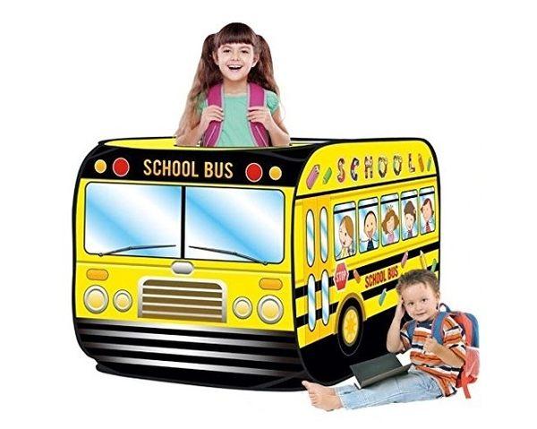 *粉粉寶貝玩具*學校巴士球屋~超酷校車造型遊戲帳篷球屋~