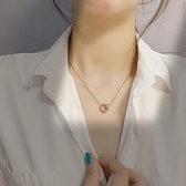 不褪色鈦鋼項錬女小眾設計ins簡約氣質網紅鎖骨錬新款潮吊墜「青木鋪子」