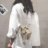 小包包女水桶包正韓編織側背包潮百搭仙女斜背包 青木鋪子