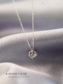 幾何之美小麋人S925純銀簡約閃鑚切面球鎖骨項鍊歐美時髦禮物女款 伊鞋本鋪