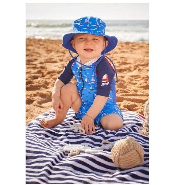 防曬漁夫帽  (S/M沒綁帶) 款帆船系列 澳洲鴨嘴獸 UPF 50+ 抗UV 適合海灘/水上樂園/泳池/玩水