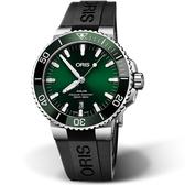 Oris豪利時AQUIS潛水機械錶 0173377304157-0742464EB 綠