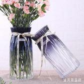 花瓶 歐式水培玻璃花瓶透明玫瑰康乃馨干花插花瓶擺件 BF6592『寶貝兒童裝』