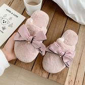 棉拖鞋女冬天室內可愛韓版家居家用月子厚底防滑毛拖鞋