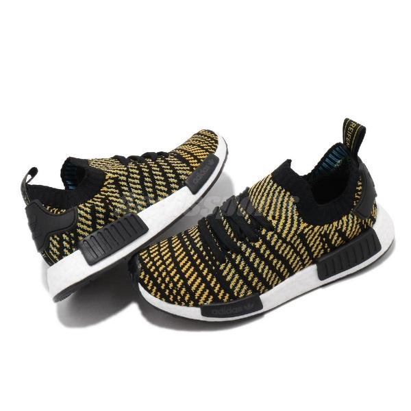 【海外限定】adidas 休閒鞋 NMD_R1 STLT PK 黑 黃 女鞋 編織 PrimeKnit 鞋面 運動鞋【ACS】 AQ0934