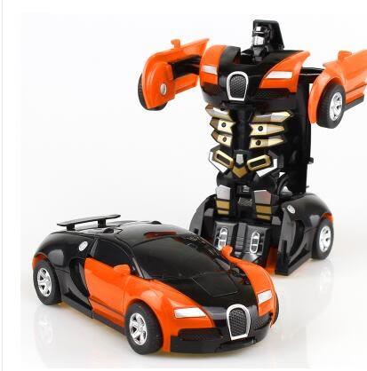 兒童汽車機器人非遙控變形玩具LVV1658【KIKIKOKO】