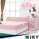 床頭箱/雙人5尺-【Hello pink貓】粉紅白色光滑面~台灣自有品牌-KIKY