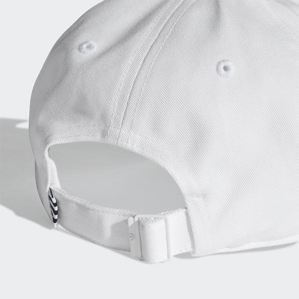 Adidas Trefoil Baseball Cap 帽子 老帽 白【運動世界】FJ2544