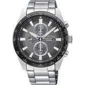 SEIKO精工 Criteria 太陽能計時碼錶-灰x銀/43mm V176-0AV0G(SSC651P1)