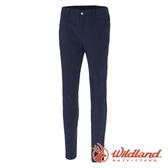 【wildland 荒野】女 彈性透氣抗UV貼身長褲『深藍』0A71315 戶外|休閒|釣魚|彈性|抗紫外線
