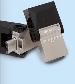 金士頓 MicroDuo 32G OTG USB3.0 (DTDUO3/32GB) 手機電腦都可用