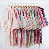 夏薄款純棉紗布睡袍情侶日式男和服浴衣全棉睡衣開衫長睡裙汗蒸服「時尚彩虹屋」