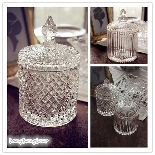 [協貿國際]美式復古水晶玻璃罐cookie jar 儲物罐收納罐1入