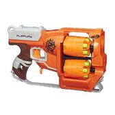 NERF兒童射擊玩具 孩之寶Hasbro 打擊者系列 雙重輪轉手槍 B0562