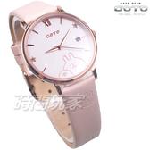 GOTO 羅馬 星星 卡娜赫拉的小動物報時生活 女錶 真皮錶帶 學生錶 玫瑰金x粉色 GL0099L-48-841