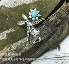 純銀項鍊 維多利亞款 愛麗絲小兔 花朵 ...