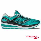 SAUCONY TRIUMPH ISO 2 緩衝避震專業訓練鞋-湖水綠x黑x白