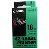 ※亮點OA文具館※CASIO 標籤機專用色帶-18mm 綠底黑字XR-18GN1