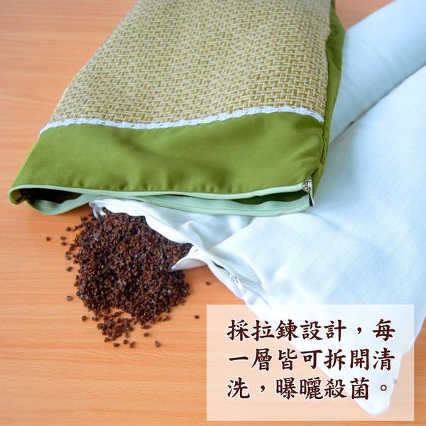 【LASSLEY】綠豆殼亞藤舒眠枕-綠色蕾絲