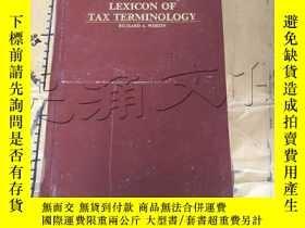 二手書博民逛書店Lexicon罕見of Tax TerminologyY1141