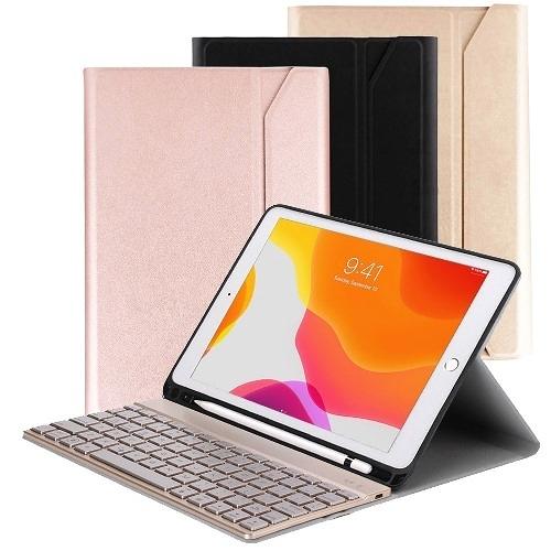 Powerway for iPad 10.2吋(iPad 7/iPad 8)平板專用尊榮型三代筆槽分離式鋁合金超薄藍牙鍵盤/皮套