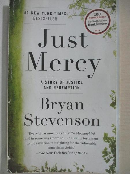 【書寶二手書T1/原文小說_IT4】Just Mercy: A Story of Justice and Redemption_Stevenson, Bryan