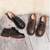 流蘇文藝複古馬丁鞋低幫森女日系女鞋學院風牛津單鞋圓頭學生皮鞋 時尚潮流