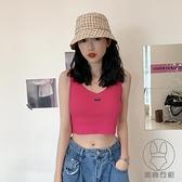 辣妹吊帶背心女內搭設計感夏季法式針織打底短款上衣服外穿潮【貼身日記】