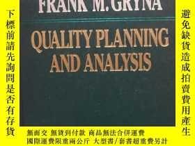 二手書博民逛書店Quality罕見Planning and Analysis (
