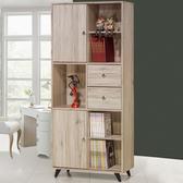 Homelike 雷哲2.7尺滑門書櫃