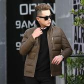 皮衣夾克-冬季立領純色休閒男外套2色73pn26[巴黎精品]