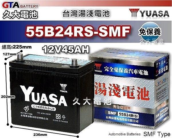 ✚久大電池❚ YUASA 湯淺 電池 55B24RS 免保養 汽車電瓶 五十鈴汽車(ISUZU) 福豹 PANTHER 2.0 (貨車/廂型車)