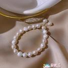手錬 淡水珍珠閨蜜手鏈小眾設計簡約冷淡風珠子串珠網紅手串手飾 8號店