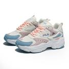 FILA 休閒鞋 白水藍粉 刺繡 厚底 修飾線條 增高 女(布魯克林) 5J308V133