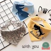 寶寶口水巾三角巾純棉雙層嬰兒新生兒童圍嘴兜【聚可爱】
