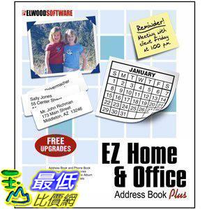 [106美國直購] 2017美國暢銷軟體 EZ Home and Office Address Book