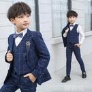 兒童西裝 兒童西裝套裝花童小男孩鋼琴演出禮服中大童帥氣英倫外套男童西服 韓菲兒