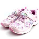 《7+1童鞋》日本月星    MOONSTAR    魔鬼氈  透氣  機能  運動鞋  C433   粉色