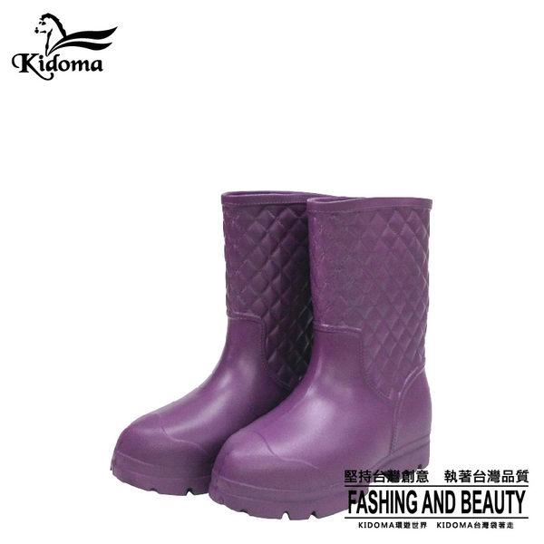 鈴木牌超輕量中筒女雨鞋-紫色 雨靴 膠鞋 工作鞋 防水 防滑 舒適
