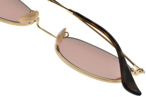 RayBan 水銀太陽眼鏡 RB3447N 001Z2 (金-粉水銀棕鏡片) 復古圓框款 水銀墨鏡# 金橘眼鏡