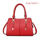 側背包-專櫃質感OL簡約純色手提包斜背包...
