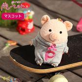 Hamee 日本 Pig童話故事系列 三隻小豬 絨毛玩偶 布偶娃娃 吊飾 掛飾 (灰外套) 557-034631