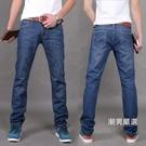 直筒褲新品牛仔褲男小腳修身款青年大尺碼男士中腰直筒大尺碼牛仔褲長褲28-424款