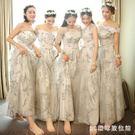 中大碼伴娘服女裝新款伴娘禮服裙年會姐妹裙閨蜜裝伴娘團連深裙韓版   AB6061  【3C環球數位館】