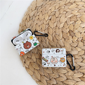 Airpods Pro 專用 1/2代 台灣發貨 [ 行李箱 熊大查理布朗 ] 藍芽耳機保護套 蘋果無線耳機保護